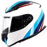 ZHXH Casco integral de motocicleta casco desmontable unisex para adultos de cuatro estaciones se puede instalar con auriculares, certificación Dot/ece,