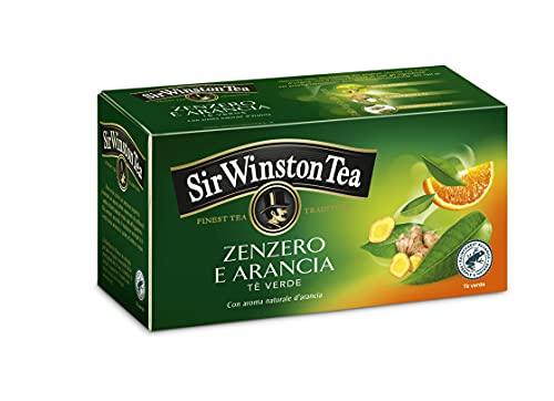 Sir Winston Tea Tè Verde Zenzero Arancia RFA -20 filtri- [confezione da 3]