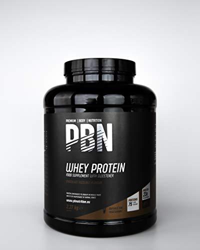 PBN - Premium Body Nutrition PBN - Proteína de suero de leche en polvo, 2,27 kg (sabor chocolate con avellanas)
