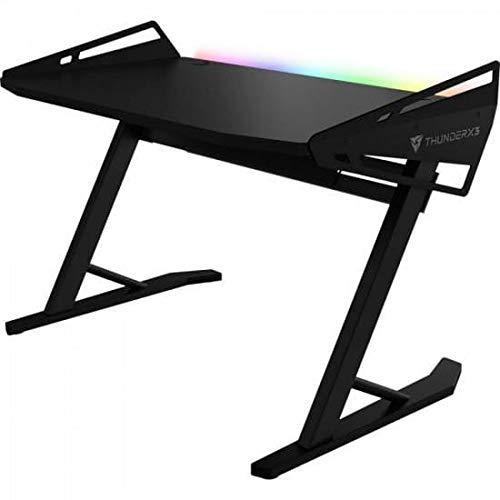 ThunderX3- Mesa gaming con iluminación RGB y altura ajustable. 128 cm