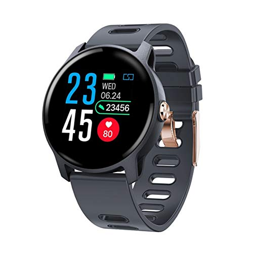 FZXL S08 Smart Watch Aliexpress Reloj Monitor de Ritmo cardíaco Podómetro Pulsera Deportiva múltiple,B