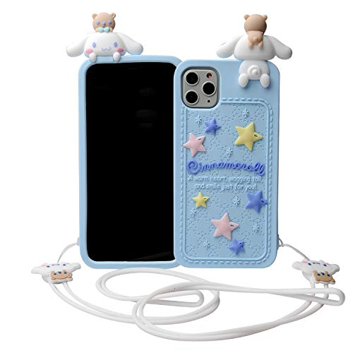 Phenix Color Cartoon Case for iPhone 11 Pro 5.8' 2019, 3D Cute Soft Silicone Rubber Protective Gel Back Cover,Kawaii Animated Stylish Fashion for Kids Girls (Cinnamon Dog, iPhone 11 Pro 5.8')