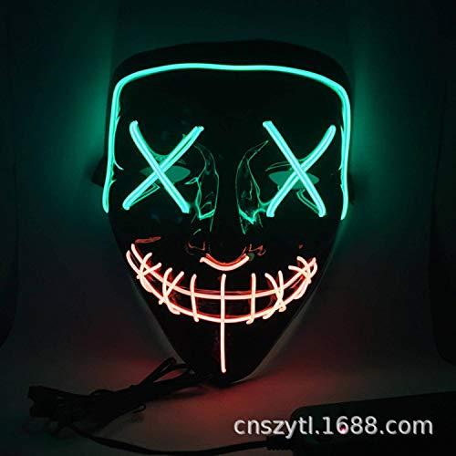 JUHome máscara de Baile Hecha a Mano con luz LED de Amazon