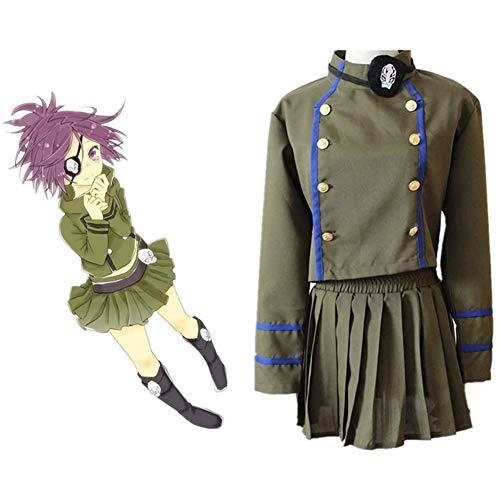 QQA Anime Hitman Reborn! Kurōmu Dokuro Lehreruniform für Halloween Maskerade Cosplay Kostüm,Grün,L