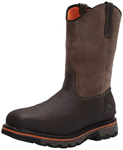 Timberland PRO Men's Pull-On Work Boots Industrial, Brown Turkish Coffee Distressed, 9.5 Wide
