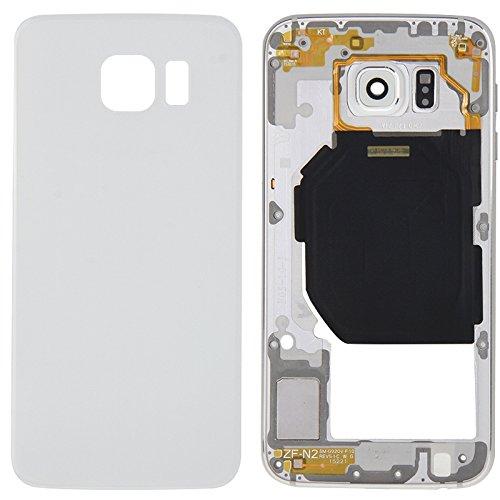 Cambiar las piezas sustituidas Jornada Cubierta completa de la carcasa (panel de lentes de la cámara de la cámara de la placa trasera + cubierta posterior de la batería) para el accesorio Galaxy S6 /