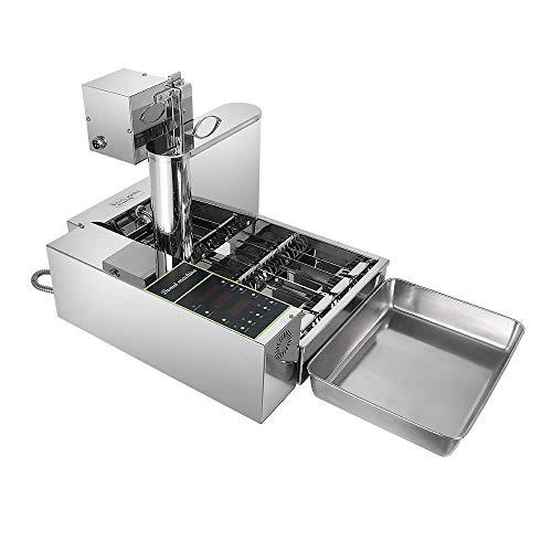 Automatische Donut Maker Maschine Stahl 4 Slot Donut Drücken Öltank Braten Elektrische Mini Donut Automatische Produktion