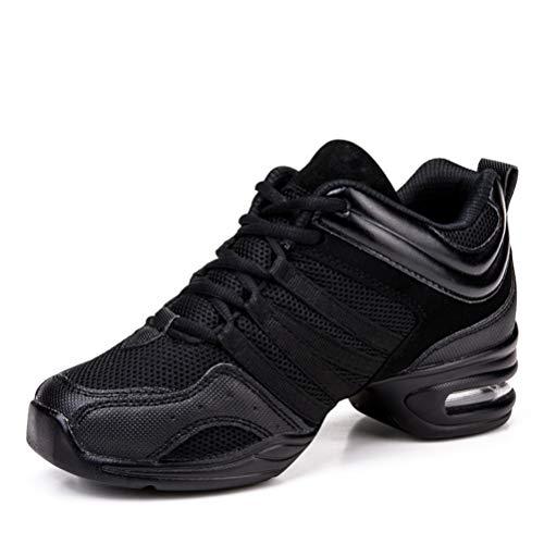 Zapatos de Baile para Mujer Jazz Zapatillas de Deporte Modernas con Aumento de Altura Zapatillas con Cordones Zapatillas Deportivas Zapatillas de Deporte con Fondo Suave