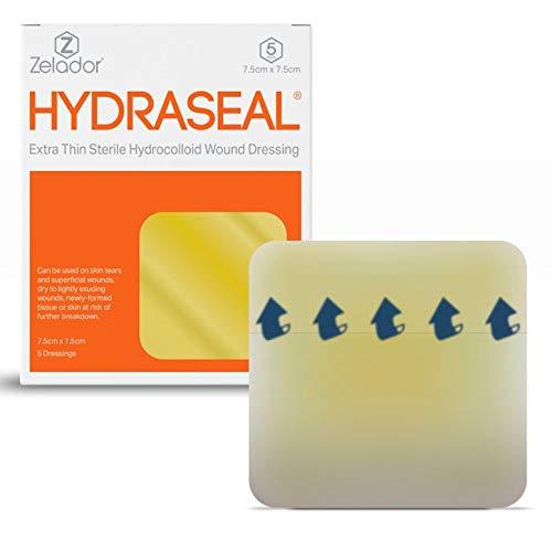 Hydrokolloid-Wundauflagen, extra-dünn, steril, 10x 10cm, 5Stück