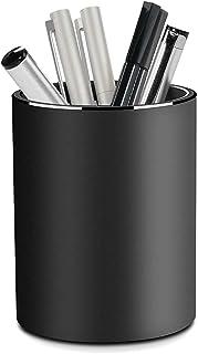 Pot à Crayon en Métal, minghaoyuan Porte-Stylo en Alliage D'Aluminium Rond, Porte-Pinceau De Maquillage, Pot à Crayons Pou...