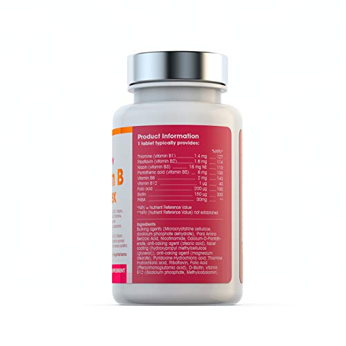 Vitamin-B-Complex-180-tablets-6-Month-Supply-Vegetarian-Vegan-Made-in-the-UK