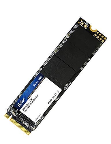 Netac Disco Duro sólido Interno SSD de 1TB, de hasta 2400 MB/s (3D NAND, NVMe, PCIe, M.2)