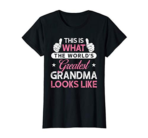 Womens Grandma T Shirt What The World