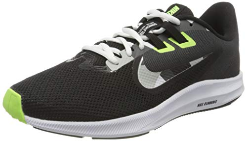Nike Downshifter 9, Zapatillas para Correr para Hombre, Black/White/Particle Grey/Dk Smoke Grey/Ghost Green/Sapphire, 39 EU