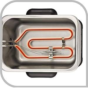 Tefal fr5101Friteuse Filtra Pro Inox and Design, minuterie, isolé contre la chaleur, clean-oil-system, 2300W, acier inoxydable/noir