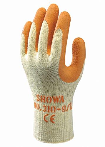 SHOWA 310, Enduction de Latex, Grip polyvalent, Jaune/orange, 7/S
