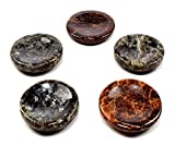 40mm Red Orange Green Garnet Stands for Spheres Eggs Polished Worry Stone Natural Sparkling Multicolor Gemstone Crystal Mineral Specimens - India (5PCS)
