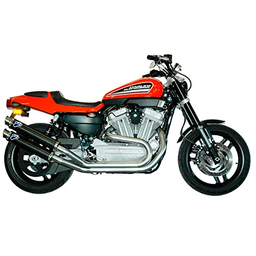 mototopgun termignoni scarico round carbonio omologato compatibile con harley davidson xr 1200 r