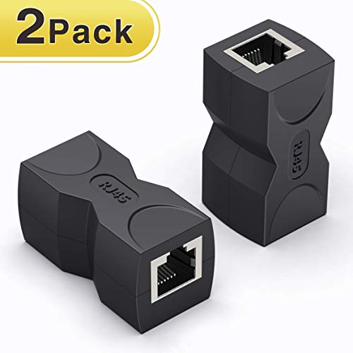 Wenter RJ45 Coupler/Ethernet Connector in Line Coupler Cat7 Cat6 Cat5e Ethernet Cable Extender Laptop Network Connector Adapter Female to Female Pack of 2
