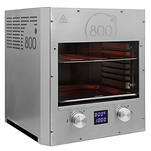 intergrill 800° Grill Pure XLc Elektrogrill Digitalanzeige Indoor Küche Steakgrill Hochleistungsgrill 16kg Oberhitzegrill Profi Qualität