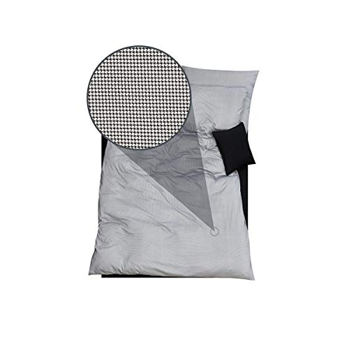 DORIS MEYER Interlock-Jersey Bettwäsche Timo schwarz Bettbezug einzeln 135x200 cm