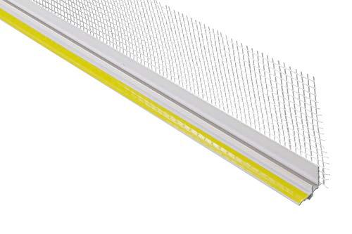 20 Meter | Anputzleiste | Putzprofil | Trockenbau | PVC | stoßfest | Lemal | 25x15mm | weiß | PT9