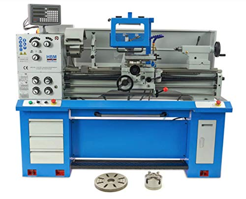 Metalldrehbank 360 X 1000 DRO 400v von HBM by Toolsde - Drehbank Drehmaschine