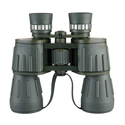 FGVBC Binoculares Militares 10X50 Potente telescopio Binocular Impermeable Verde Militar para Acampar