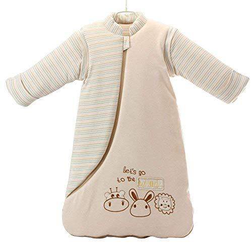 Liseng Unisex Baby Schlafsack Tragbar Decke Baumwoll Schlaf Sack Langarm Nest Nachthemden Verdickte Winter Kaninchen / 3.5 Tog Mehr Farbig M