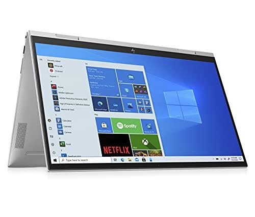 HP ENVY x360 15-es0057ng (15,6 Zoll / Full HD IPS Touch) 2in1 Convertible Laptop (Intel Core i5-1135G7, 16GB DDR4 RAM, 512GB SSD, Intel Iris Xe Grafik, Windows 10, QWERTZ) silber, Fingerprintsensor