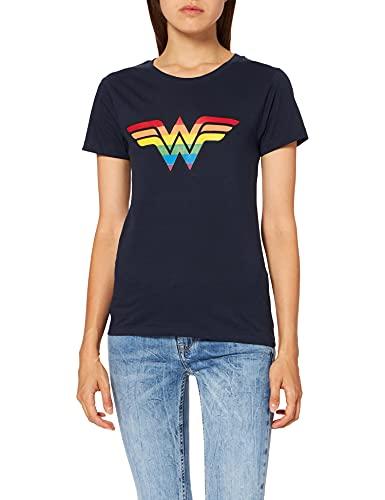 DC Comics WOWOWOOTS109 Camiseta, Vaquero, M para Mujer