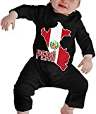 WlQshop Mono para Bebé,Mameluco Bebé Unisex Peruvian Pride Map of Peru Baby Girls Long Sleeve Infant Bodies