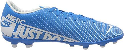 Nike Unisex-Erwachsene Vapor 13 Club Fg/Mg Fußballschuhe, Mehrfarbig (Blue Hero/White/Obsidian 414), 44 EU