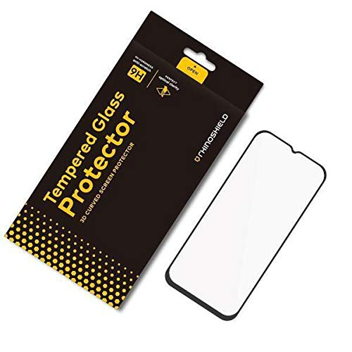 RhinoShield Protection écran compatible avec [OnePlus 6T / OnePlus 7] | Verre Trempé Bord Bord 9H - Résistance aux Rayures et Traces de Doigts - Dureté 9H Protection 3D courbée