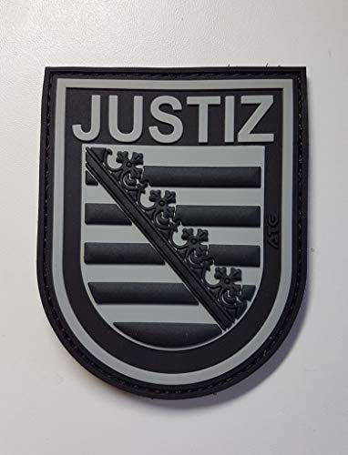 ATG Ärmelabzeichen JUSTIZ Sachsen 3 D Rubberpatch (BlackOps)