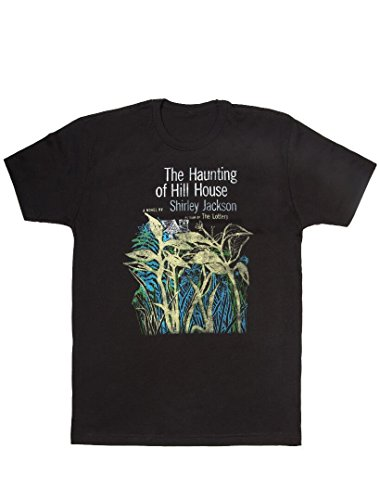 Camiseta masculina clássica literária moderna unissex da Out of Print, The Haunting of Hill House - Black, X-Small
