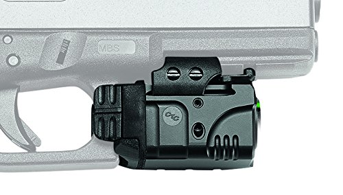 Crimson Trace CMR-204 Rail Master Pro Universal Green Laser Sight and Tactical Light with Instinctive Activation for Shooting, Competition and Range
