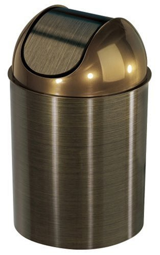 Umbra 082744-125 , Bronze Mezzo Swing-Top Waste Can, 2.5-Gallon (10 L)