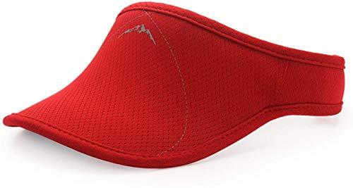 Viseras Rojo para Hombre y Mujer, Banda Gruesa, Banda de Sudor Ajustable, para Golf, Ciclismo, Pesca, Tenis, Jogging y Otros Deportes
