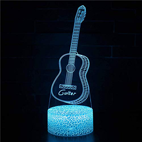 Lámpara de ilusión LED 3D, Nueva lámpara USB LED 3D Fresca Atmósfera Luz Nocturna Juguetes Coloridos para niños Dormitorio Escritorio Luz de Mesa como Regalo Decoración Niños
