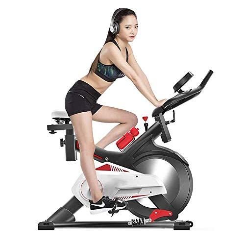 WJFXJQ Bicicleta de Ejercicios, Bicicleta estacionaria de Ciclismo de Trabajo Pesado con Monitor y Asiento cómodo Ajustable, para Entrenamiento en el Gimnasio de Cardio Home