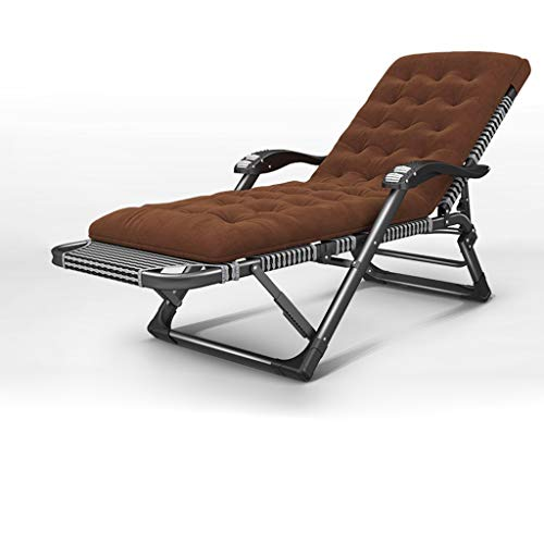 WXF Tumbona Butaca Grande Patio reclinable for Heavy Personas Oficina Siesta Tumbona for el Recorrido portátiles sillas Plegables de Camping Cama Individual reclinable Soporta 200kg