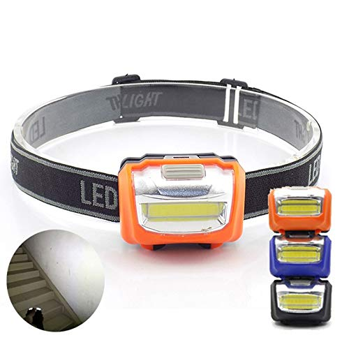 VIAIA Mini COB LED Headlamp ad Alta Potenza Lampe di Pesca Torcia da Pesca Notte all'aperto Bright Torce Light Lamp Light Piccolo Hoofdlamp per Camping (Colore : Nero)