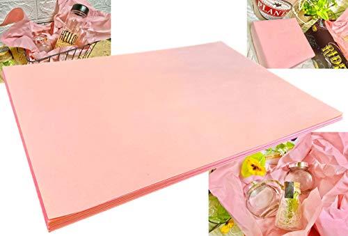 ラッピング 緩衝材 包装紙 1�s分 ピンク 約54�p×約38�p ギフト プレゼント おしゃれ きれい かわいい ギフト 誕生日 お花 新聞紙 プリント 更紙 わら半紙 梱包 割れ物 クッション材 荷造りに
