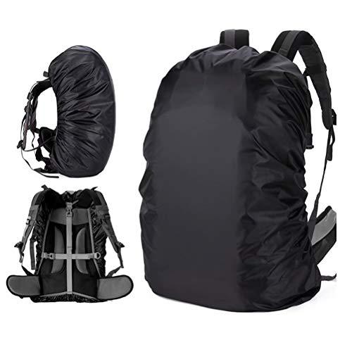 GuangTouL wasserdichte Abdeckung für Rucksack (15-80 l), dreifache Wasserdichtigkeit, Einstellbarer Anti-Rutsch-Gurt, verschleißfest, robust, für Outdoor, Wandern, Camping, Reisen, Radfahren