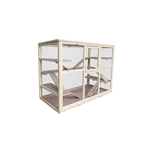 MYPETS - KRÜMEL XXL Holz Käfig für Nager 120 x 60 x 90 - Nagerkäfig für Hamster, Chinchilla, Mäuse oder Ratten - Hamsterkäfig aus Holz - Nagarium für Drinnen oder Draußen