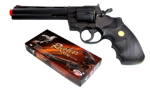 TSD Sports UA938B 6 inch Spring Powered Airsoft Revolver Black