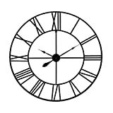 36' Blue Grey Metal Cut Out Roman Numeral Wall Clock