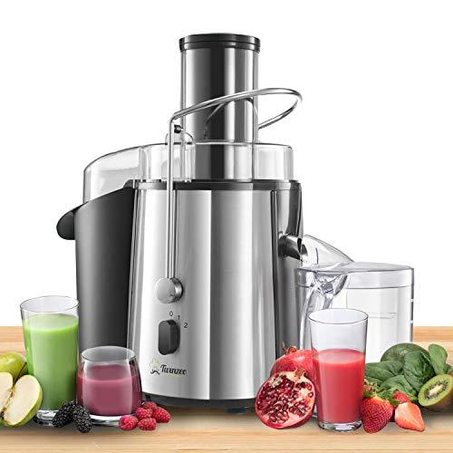 Zentrifugal Entsafter Gemuse und Obst Elektrisch - Saftpresse Gemüse und Obst - Leistungsstark (850 W), 2 Geschwindigkeitsstufen - Großer Einfüllschacht (75 mm), Anti-Rutsch-Füße, CE-zertifiziert