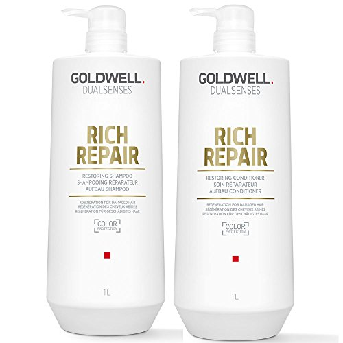 Goldwell Dualsenses Rich Repair Restoring Shampoo 1000 ml und Conditioner 1000 ml